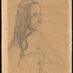 "Tom Lea (American, 1907-2001). Untitled. Inscribed: ""To my friend Martha [Esquivel Hahn] –Tom Lea,"" ca.1950. Pencil on paper. ©Tom Lea Institute."