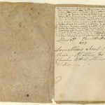 """Last page of """"Something About Arthur,"""" signed by Charlotte Brontë and dated 1833."""