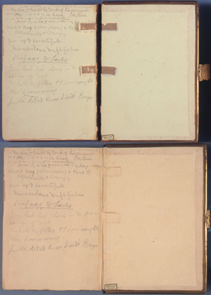 "This copy of the Bible belonged to Samuel Clemens (Mark Twain), who carried the book with him during a trip to Constantinople in 1867 while he was writing ""Innocents Abroad."""