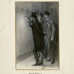 "This illustration for ""The Adventure of the Norwood Builder"" is one of 356 drawings Sidney Paget created for the original publication of the Sherlock Holmes tales in The Strand Magazine. Arthur Conan Doyle art collection."