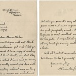 "In this letter to Bram Stoker, Doyle expresses his admiration for the recently published ""Dracula."" Arthur Conan Doyle papers."