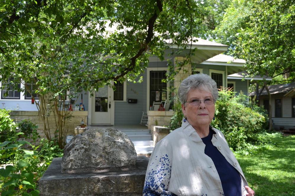 Martha Campbell in front of her home in Hyde Park. Photo by Alicia Dietrich.