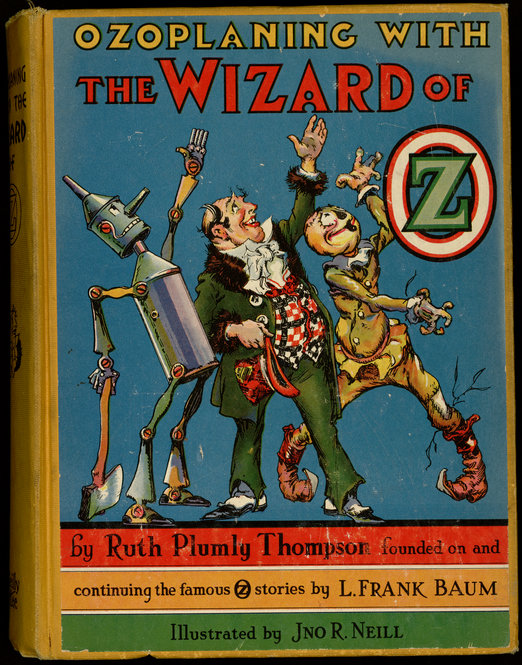 """Ozoplaning with the Wizard of Oz"" by Ruth Plumly Thompson. 1939."