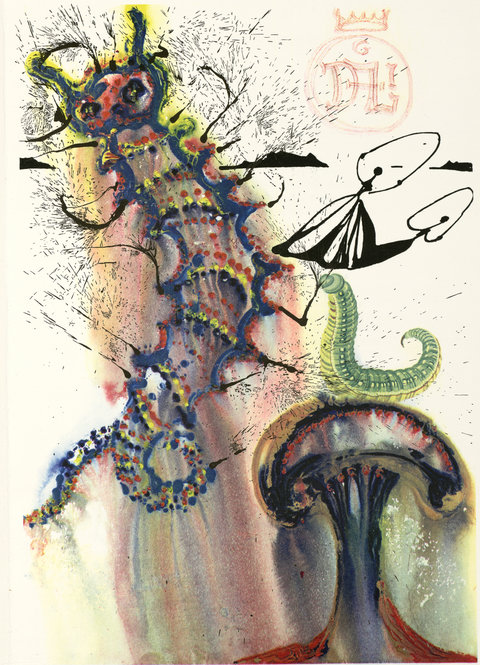 """Advice From a Caterpillar."" © Salvador Dalí, Fundació Gala-Salvador Dalí / Artists Rights Society (ARS), New York, 2012."