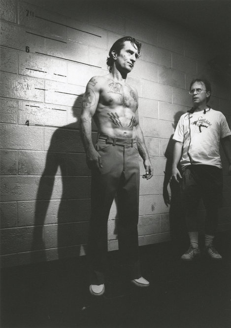 "A production still of Robert De Niro as Max Cady, the bible verse-tattoo sporting convict from ""Cape Fear."""