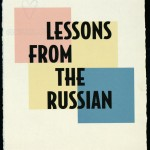 "Title page of Lee Blessing's ""Lessons from the Russian"" (1999). The book was illustrated by Steven Sorman."