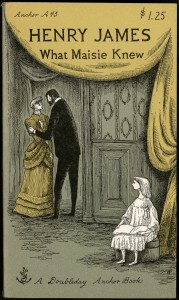 """What Maisie Knew"" by Henry James. Book cover design by Edward Gorey. 1954."