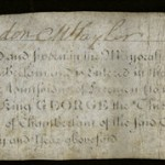 Certificate dated December 5, 1764, admitting Josiah Rushton to freedom of the city of London.