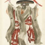 "Norman Bel Geddes costume design for Oriental Gentleman in ""The Miracle,"" ca. 1924. Image courtesy of the Edith Lutyens and Norman Bel Geddes Foundation."