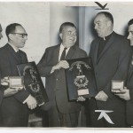 """Winning Combination"" (high-school basketball champions dinner). Sheldon Gottesman for the ""New York Journal-American,"" April 6, 1960."