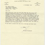 This letter from Stern's literary agent, Georges Borchardt, shows how Borchardt served as both an agent of Stern's interest and a critical force in his creative work. Copyright © Georges Borchardt. Used by permission. All rights reserved.