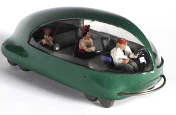 Futurama car. Photo by Pete Smith. Image courtesy of the Edith Lutyens and Norman Bel Geddes Foundation.