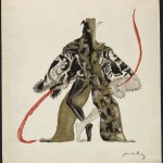 "Norman Bel Geddes costume design for Chief Gypsy or Jester in ""The Miracle,"" ca. 1924. Image courtesy of the Edith Lutyens and Norman Bel Geddes Foundation."