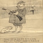 O. Henry's illustrated comic verses for his daughter, Margaret, not dated.