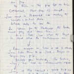 """Notes and fragments for """"Gadget"""" in a """"Rough Bomb Book"""" journal, 1975."""