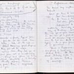 """Nicolas Freeling's working draft of """"The Back of the North Wind."""" 1979."""