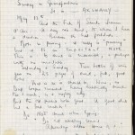 A page from one of Nicolas Freeling's journals, 1973–1975.