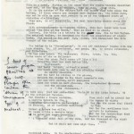 """Nicolas Freeling's working draft fragments, notes and letters with Peter Zimmerman related to the work that came to be known as """"Gadget."""" 1971–1975."""