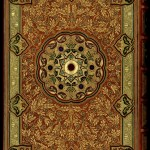 """Back cover of Thomas Moore's """"Lalla Rookh"""" with a jeweled binding by Sangorski & Sutcliffe. Photo by Pete Smith."""