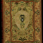 "Front cover of Thomas Moore's ""Lalla Rookh"" with a jeweled binding by Sangorski & Sutcliffe. Photo by Pete Smith."