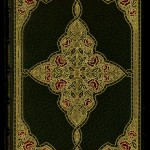 "Front cover of the illuminated manuscript of ""Selected Poems of Edgar Allan Poe"" bound by Sangorski & Sutcliffe. Photo by Pete Smith."