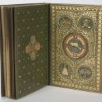 """""""The Hunting of the Snark"""" has semiprecious stones inlaid inside the back cover. Photo by Pete Smith."""