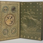"""""""The Hunting of the Snark"""" has semiprecious stones inlaid inside the front cover. Photo by Pete Smith."""