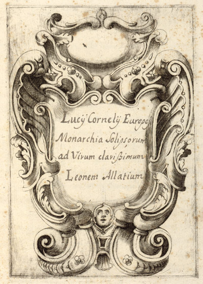 "Page from ""Monarchia Solipsorum: ad virum clarissimum Leonum Allatium"" in the Ranuzzi manuscript collection."