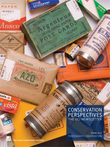 Cover of The Getty Conservation Institute newsletter Conservation Perspectives.