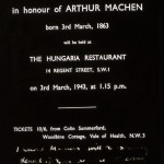 Negative of an invitation for a birthday lunch to celebrate Machen's birthday in 1863.