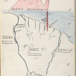 A map of French Guiana and Devil's Island, illustrated by Belbenoit.