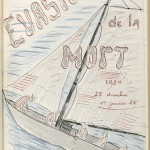 Belbenoit's illustration depicting one of his early, unsuccessful escape attempts by sea.