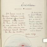 "Title page for the manuscript's chapter, ""The Last Escape."""