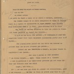 """A typescript page, with edits, from the manuscript of """"Dry Guillotine."""""""