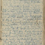 Belbenoit's notes, sewn into the manuscript pages.
