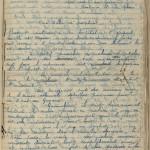 Belbenoit's notes, sewn into the manuscript pages.