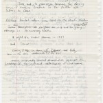 "Phillips' handwritten notes for ""Machine Dreams"" reveal analysis of family dynamics."