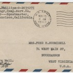Airmail came by way of San Francisco for troops stationed in the Pacific Theatre of World War II.