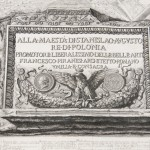 "A drawing in the corner of the print of ""Pianta delle Fabriche Esistenti Nella villa Adriana."" Photo by Pete Smith."