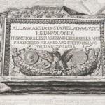 """A drawing in the corner of the print of """"Pianta delle Fabriche Esistenti Nella villa Adriana."""" Photo by Pete Smith."""