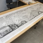 The print is 10 feet wide when unfurled. Photo by Pete Smith.
