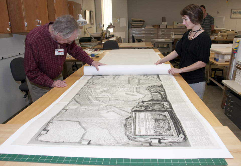 Conservation team brings large map to larger audiences