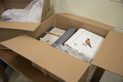 Unpacking the McSweeney's archive. Photo by Pete Smith.