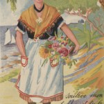 Venture to Cannes: French composer Francis Poulenc sent this postcard from the Mediterranean city of Cannes to Surrealist artist Valentine Hugo. Don't be afraid to lift the apron of the young woman on the front of the postcard; she has pictures she wants to show you!