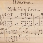 "Handwritten score found on the additional wrapper from the zarzuela ""El cabo primero"", 1895."