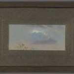 """Rift in the Rain Cloud"" by Frank Reaugh (1860-1945), front of framed work. Photo by Pete Smith."