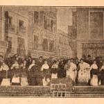 "Scene illustration from the zarzuela ""Maldición gitana"", 1902."