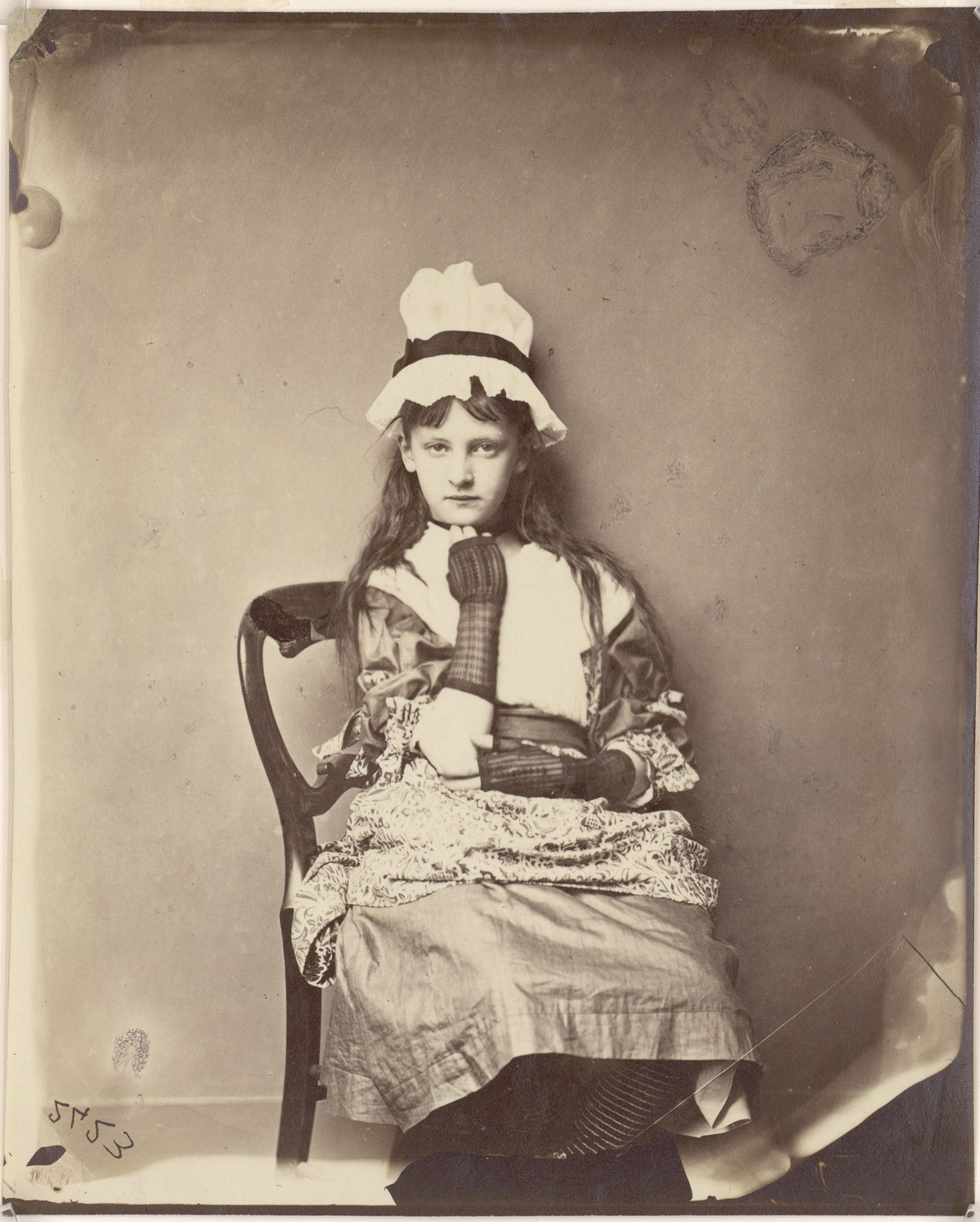 "Rev. Charles L. Dodgson. ""Xie Kitchin as Penelope Boothby"". 1875–1876."