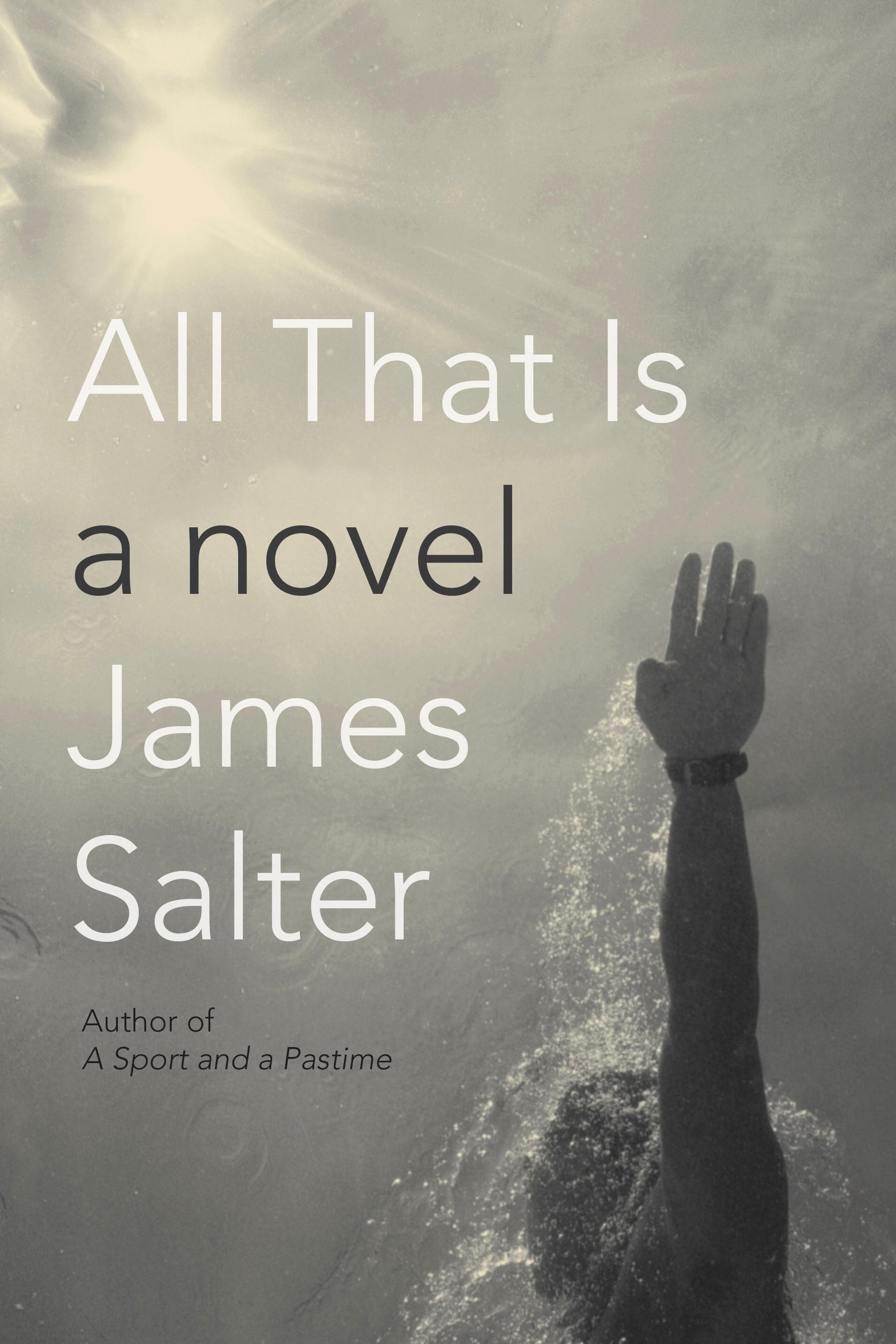 "Cover of James Salter's ""All That Is."""