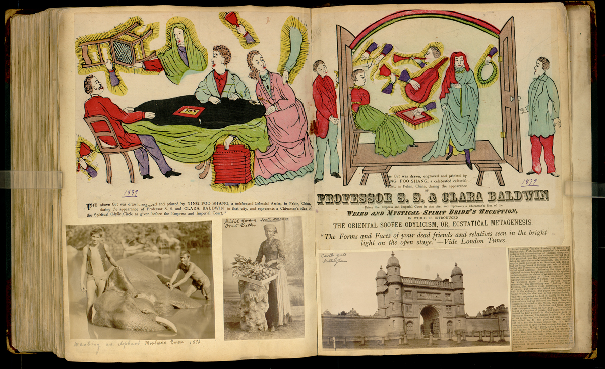 "Artifact in Harry Houdini scrapbook collection highlights career of mind reader ""The White Mahatma"""